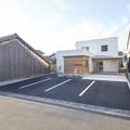出雲市大社町ですっきりデザインの写真スタジオの建築